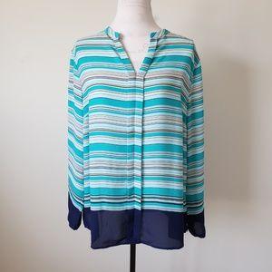 Limited Long Sleeve Placket Blouse Women's XL